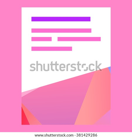 Vector cover design with polygons and colorful lowpoly elements
