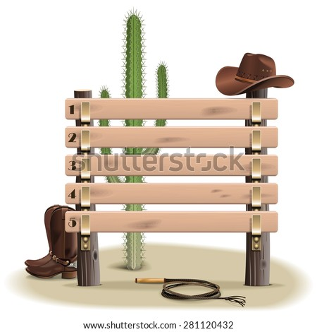 Vector Cowboy Rating Scoreboard - stock vector