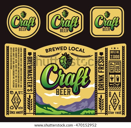 Vector Craft Beer Label Design Stock Vector 470152910 - Shutterstock
