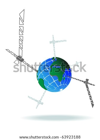 vector crane and earth.Vector2