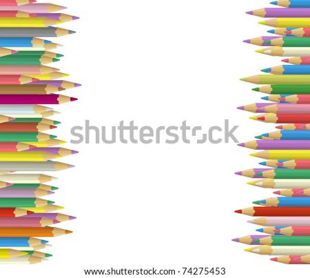 Vector Crayons - stock vector
