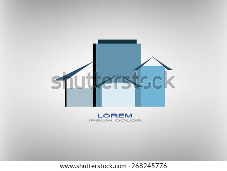 vector creative building construction, house logo for your company isolated - stock vector