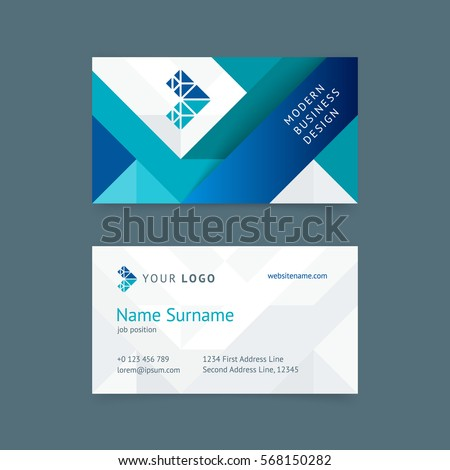 Abstract Cover Design Business Brochure Template Stock Vector - Construction business card template