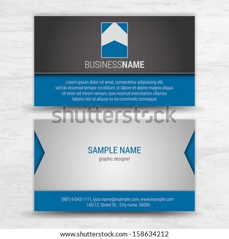 Vector creative business cards (set template) - stock vector
