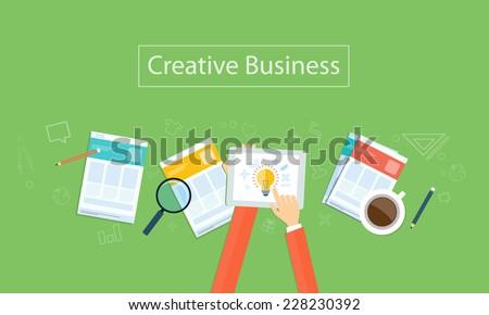 Vector creative business idea background - stock vector