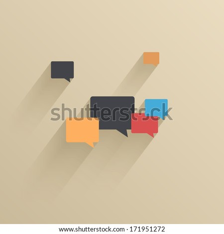Vector creative flat ui icon background. Eps 10 - stock vector