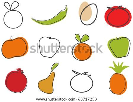 Vector Creative Food Clip-Art - stock vector