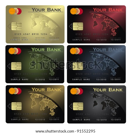 vector Credit card Colors collection - stock vector