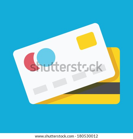 Vector Credit Card Icon - stock vector
