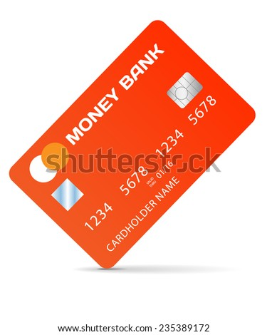 Vector credit card illustration on white background