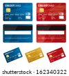 Vector credit cards - stock photo
