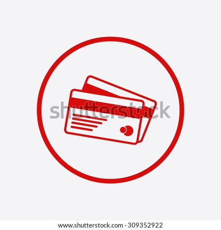 Vector credit cards icon. Flat design style. EPS 10.