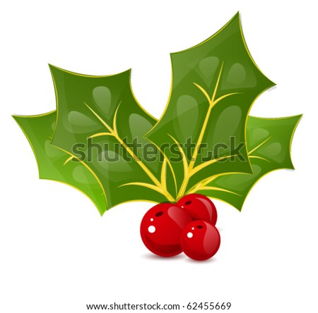 vector cristmas berry. eps10 - stock vector