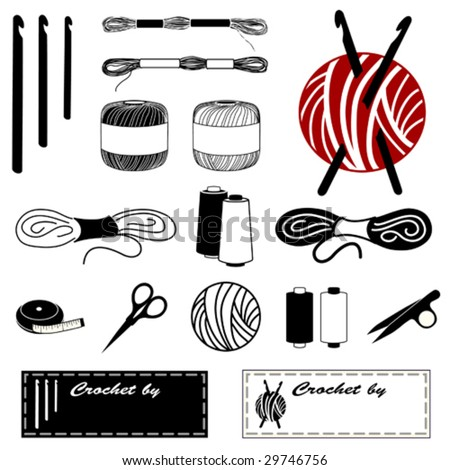 Crocheting Vector : Crochet Hook Stock Photos, Illustrations, and Vector Art
