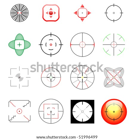 vector cross-hair and target collection for a wide range of use