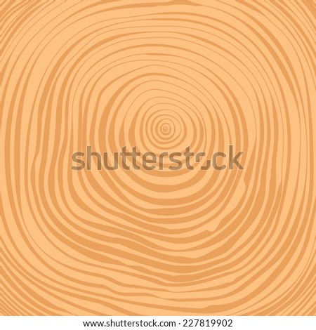 Vector crosscut timber tree rings background - stock vector