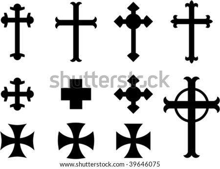 vector crosses religious symbols stock vector 39646075 shutterstock rh shutterstock com vector crosses free vector cross vector
