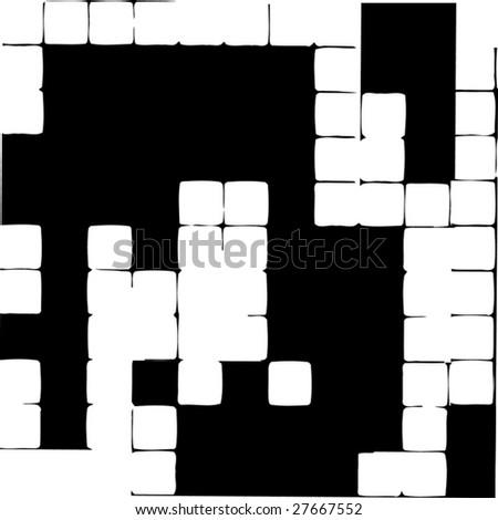 Vector Crossword Puzzle Abstract - stock vector