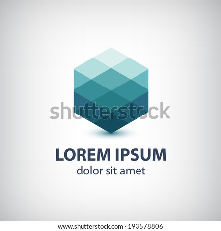 vector crystal abstract icon, logo for your company  - stock vector