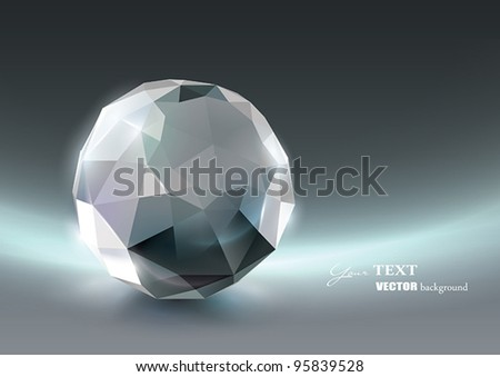 Vector Crystal background - stock vector