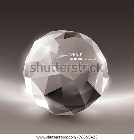 Vector Crystal frame for your text - stock vector