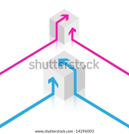 Vector cube design - stock vector