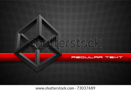 Vector Cube Illusion - stock vector
