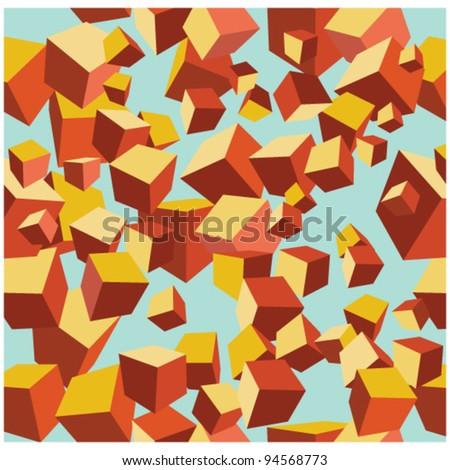 vector cube pattern - stock vector