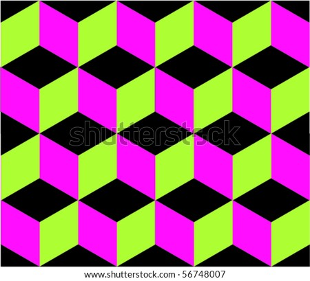 vector cube seamless pattern - stock vector