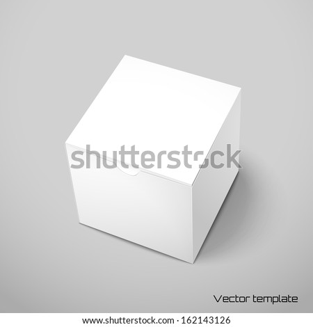 Vector cubic box template. - stock vector