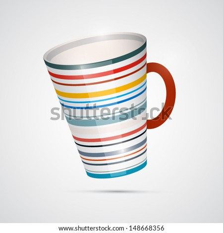 Vector Cup Isolated on White Background - stock vector