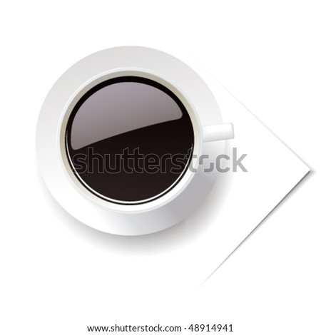 Vector Cup of coffee. Can be used in design as illustration or an icon