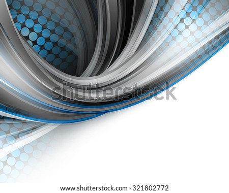 vector curly background with  lines and half-tone texture. Eps10 - stock vector