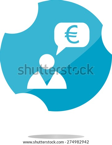 vector Currency exchange icons, euro money sign and man sign - stock vector