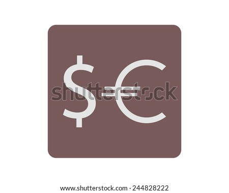 Vector currency icons set, dollar, euro - stock vector