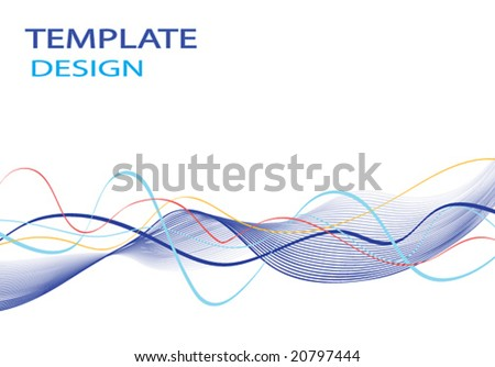 vector curves template background