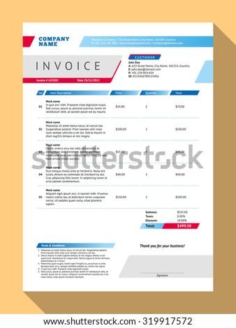 customizable invoice