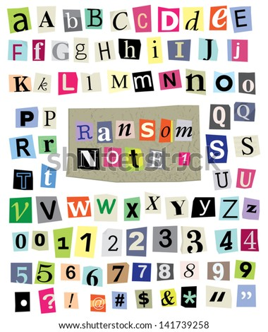 Vector cut newspaper magazine letters numbers stock vector 141739258 vector cut newspaper and magazine letters numbers symbols mixed uc spiritdancerdesigns Images