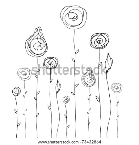 vector cute doodle summer background illustration - stock vector