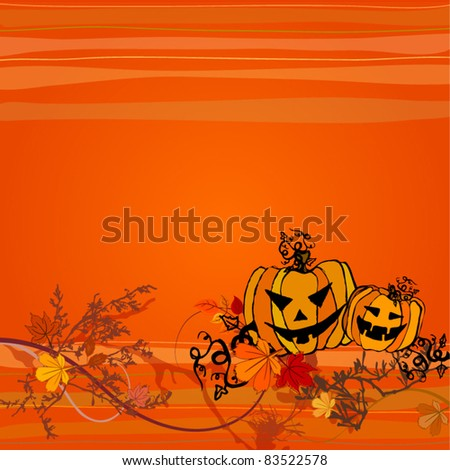vector cute Halloween illustrated background