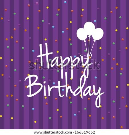 Vector Cute Happy Birthday Greeting Card Stock Vector Royalty Free