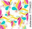 Vector cute summer floral background illustration - stock vector