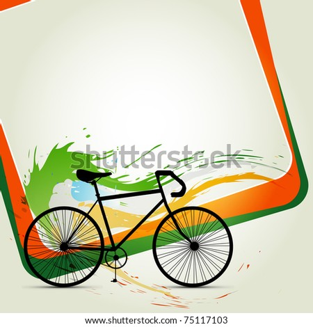 vector cycle abstract background - stock vector