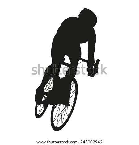 Vector cyclist. Road cycling - stock vector