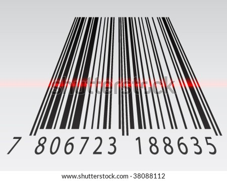 vector 3d barcode - stock vector