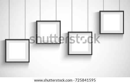 Vector 3 D Blank Black Hanging Frames Stock Vector 725841595 ...