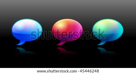 Vector 3d bubbles - stock vector