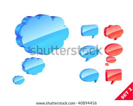 vector 3d icons - stock vector