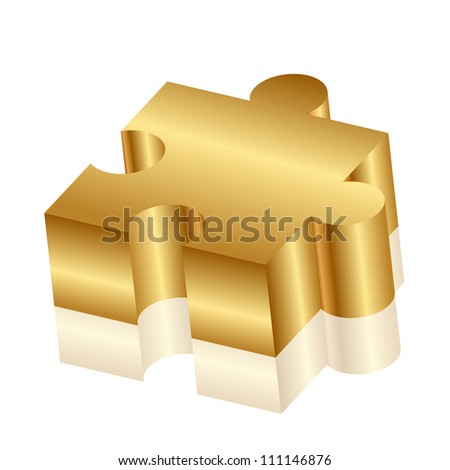 Vector 3d illustration of puzzle - stock vector