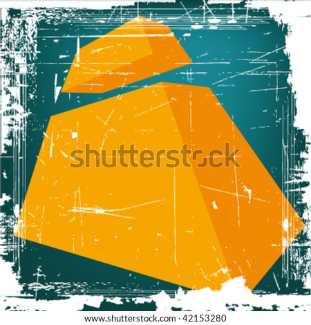 "vector 3d letter ""I"" on GRUNGE background - stock vector"